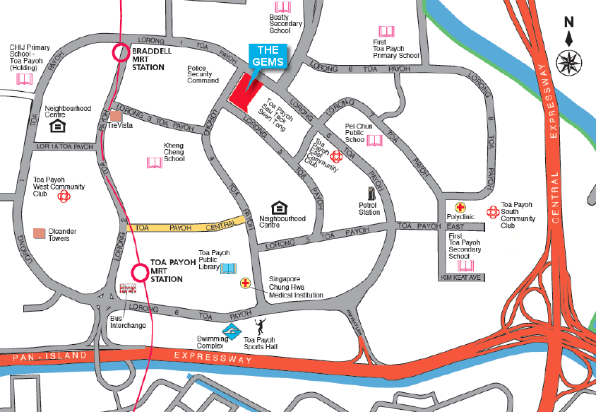 The Gem Residences Location at Toa Payoh
